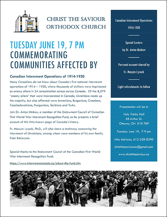 Commemorating Communities Affected by Canadian Internment Operations of 1914 to 1920