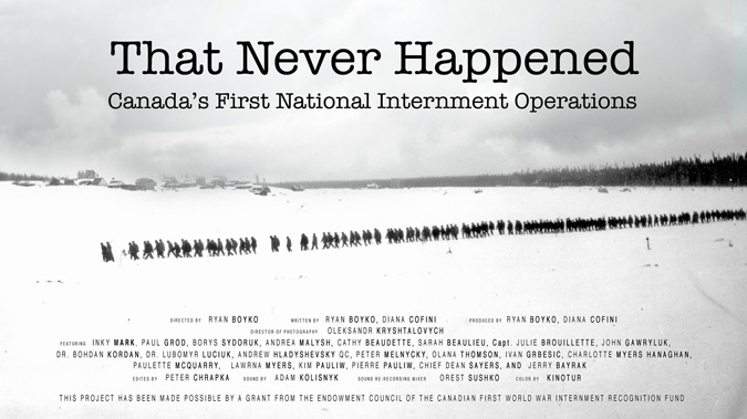 That Never Happened: Canada's First National Internment Operations